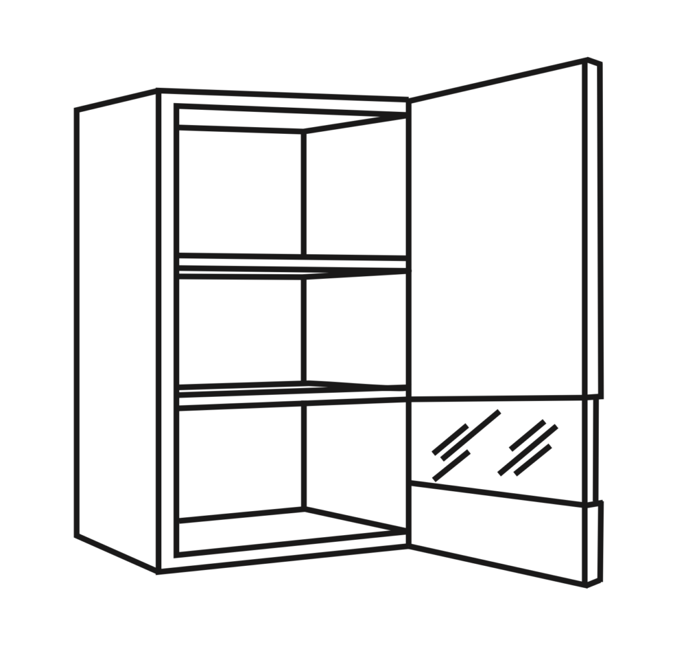 OPTIkarat Oberschränke, Glasoberschränke | Höhe 89,6 cm