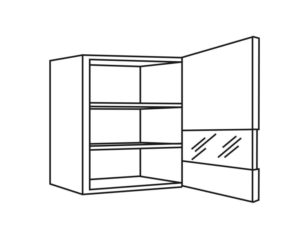 OPTIkarat Oberschränke, Glasoberschränke | Höhe 70,4 cm