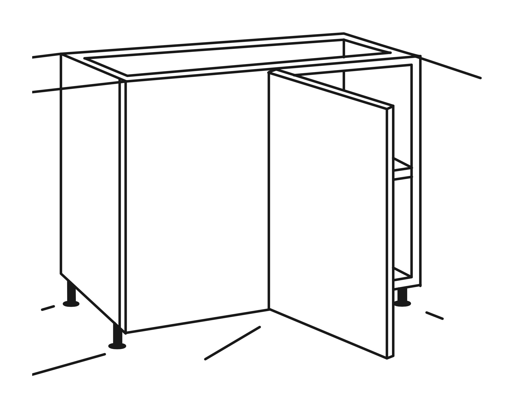 Für Eckunterschrank UEL116-8 | UEL106-7 | UEL116-3D