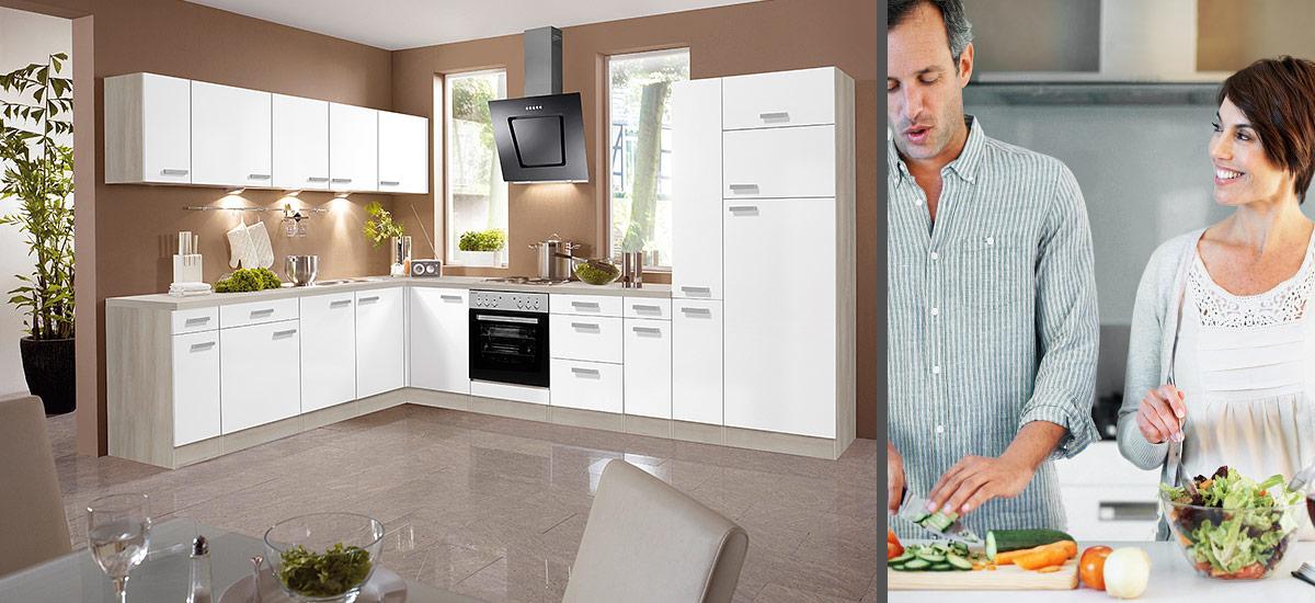 OPTIkult - Küchenmöbel mit Sockelblende
