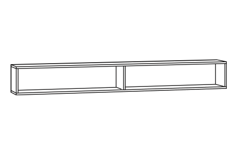 Regal für Spiegelschrank - 120cm