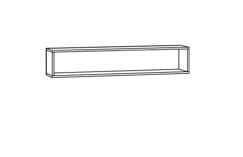 Regal für Spiegelschrank - 80cm
