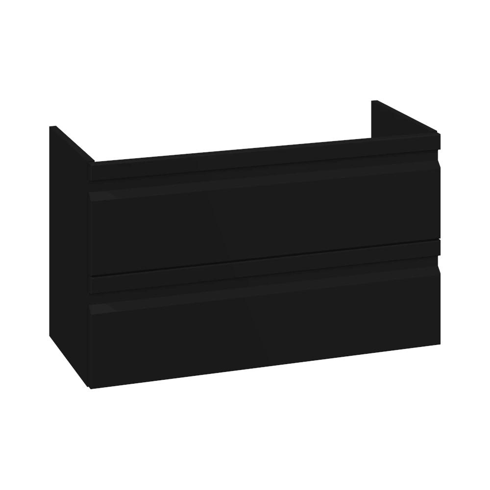 Schwarz matt, mit integriertem Griff